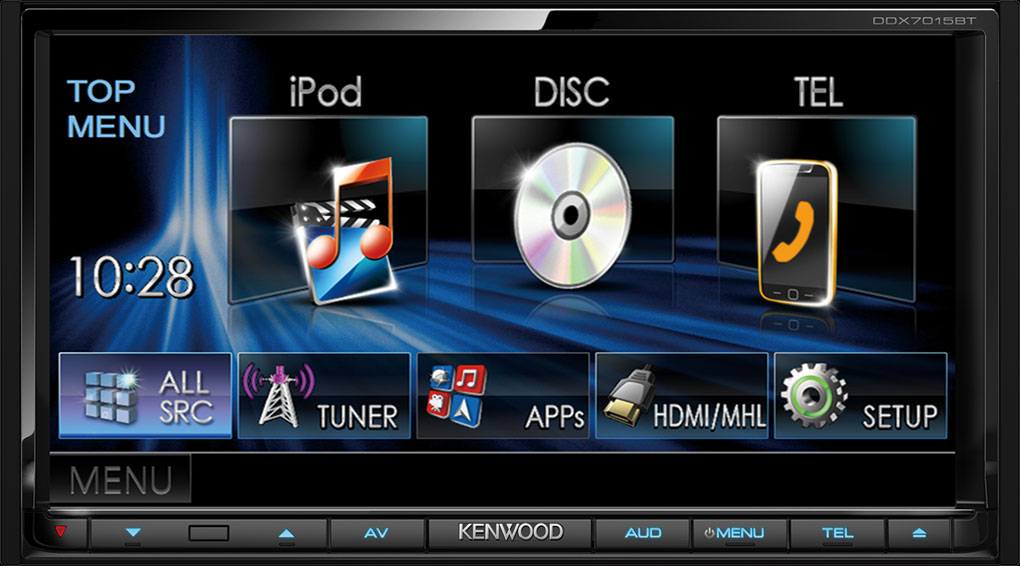 KENWOOD DDX-7015BT - MULTIMEDIÁLNÍ JEDNOTKA S BLUETOOTH, HDMI, CD/DVD/USB/AUX