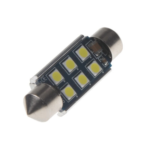 LED SUFIT (39mm) bílá, 12V, 6LED/3030SMD 2 KS