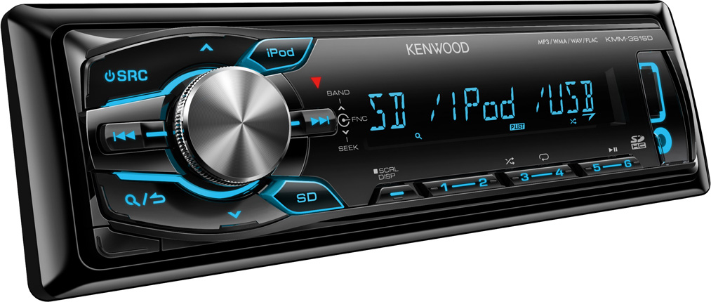 AUTORÁDIO KENWOOD KMM-361SD S USB, AUX, SD