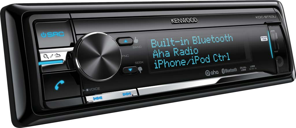 AUTORÁDIO KENWOOD KDC-BT53U S BLUETOOTH, CD, USB, AUX